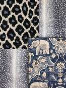 Cobalt Blue Animal Fabrics