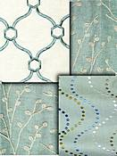 Turquoise Embroidered Fabrics