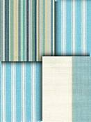 Aqua Blue Stripe Fabric