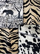 Black & Natural Animal Fabrics