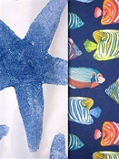 Beachfront Sealife Outdoor Fabric
