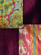 Purple, berry & plum home decor fabric