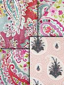 Berry & Pink Paisley Fabric