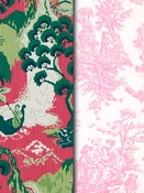 Berry Toile & Chinoiserie Fabric