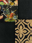 Black background multi color fabrics