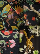 Colorful Black Animal Fabric