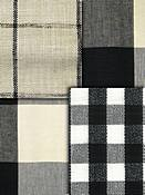 black & white check fabric