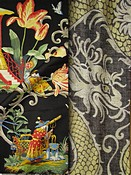 Black Toile & Chinoiserie Fabric
