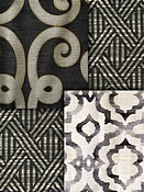 Black Trellis Fabric
