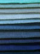 Blue Linen Curtain Fabric