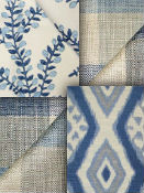 Blue & Natural Fabric