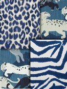 Cobalt Blue Animal Fabric