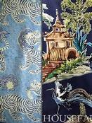 Blue Toile & Chinoiserie Fabric