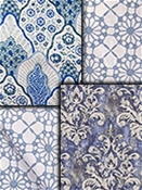 Blue Medallion Fabrics