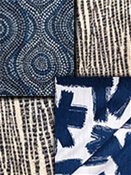 Blue Modern Tapestry Fabric