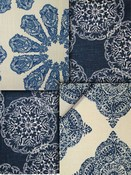 Blue Suzani Fabric