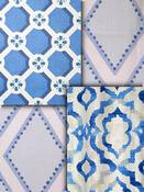 Blue Trellis Fabric
