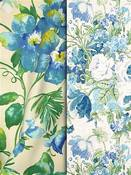 Blue & Green Floral Fabric