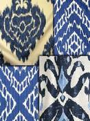 Blue Ikat Fabric