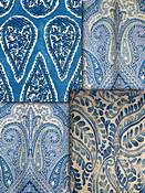 Royal Blue Paisley Fabric