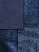 Blue Chenille Upholstery Fabric