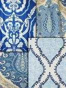 Blue Medallion Fabric