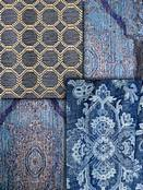 Blue Tapestry Fabric