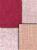 Pink Berry Herringbone Fabric