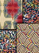 Bright Multi Modern Tapestry Fabric