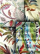 Multi Colored Leaf Fabric