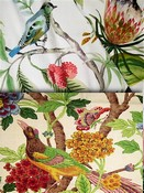 Bright Multi Bird Fabrics