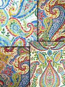 Bright Multi Paisley Fabric