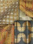 Bronze Retro Modern Fabric