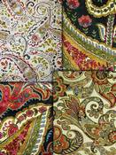 Bronze Paisley Fabric