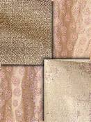 Bronze Rose Metallic Fabric