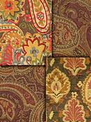 Brown Paisley Fabric