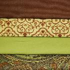 Brown and Green Colored Fabric