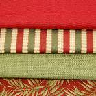Red and Green Colored Fabrics