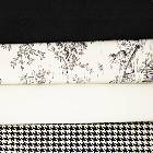 Black and White Colored Fabrics