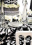 Black and White Party Fabric