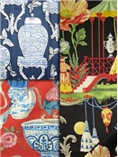 Chinoiserie Fabrics - Asian Fabric