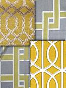 Citron Trellis Fabric
