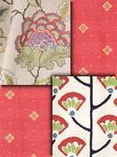 Coral Embroidered Fabrics