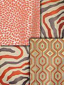 Coral Modern Tapestry Fabrics