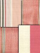 Coral Stripe Fabric