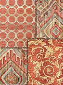 Coral Tapestry Fabrics