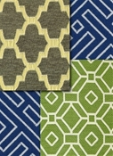 Lattice & fretwork scroll fabric