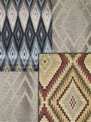 Diamond upholstery fabric, Ogee drapery fabric