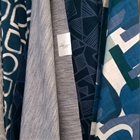 Blue  Indigo Domino Home Fabric Preview