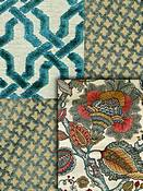Duralee Teal fabric colors
